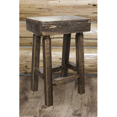 Abella 24 Square Bar Stool Finish: Stain and Lacquer Finish