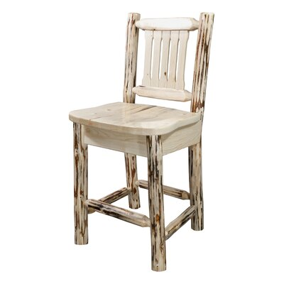 Montana 30 Bar Stool Finish: Clear Lacquer Finish
