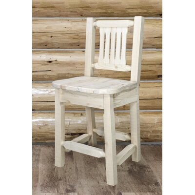 Abella 24 Wood Bar Stool Finish: Clear Lacquer Finish
