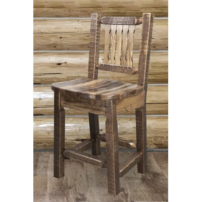 Abella 24 Wood Bar Stool Finish: Stain and Lacquer Finish