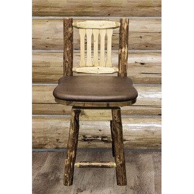 Tustin 24 Bar Stool Upholstery: Saddle