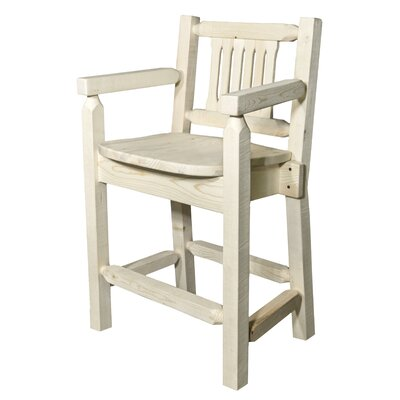 Abella 24 Bar Stool Finish: Natural