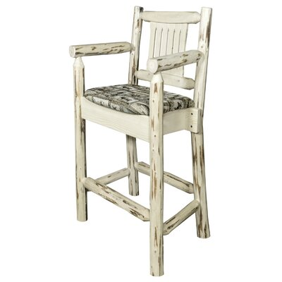 Montana 24 Bar Stool with Cushion Finish: Clear Lacquer Finish