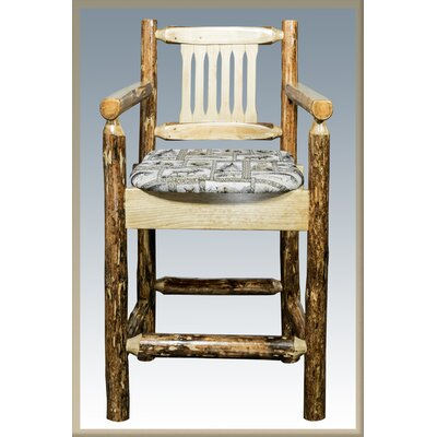 Tustin 24 Bar Stool with Cushion Upholstery: Wildlife