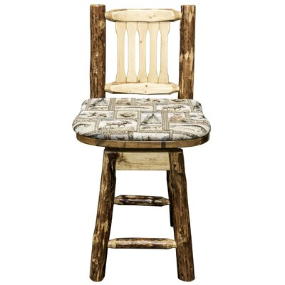 Tustin 24 Bar Stool Upholstery: Wildlife, Finish: Ready to Finish