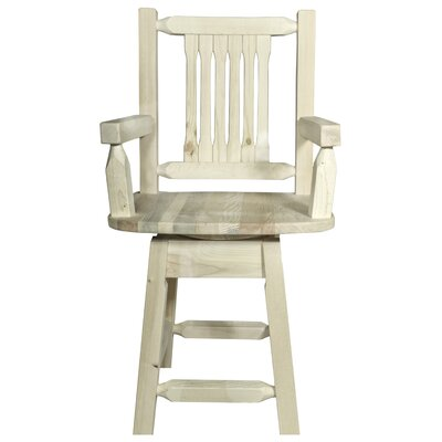 Abella 24 Rectangle Swivel Bar Stool Finish: Ready to Finish