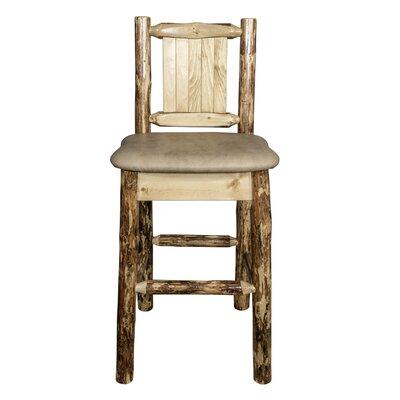 Southborough Rustic 24 Bar Stool Upholstery: Tan