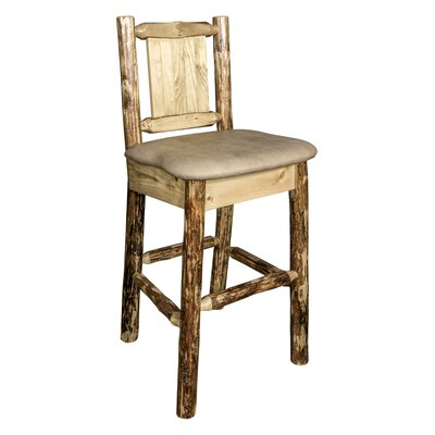 Southborough 24 Full Back Bar Stool Upholstery: Tan