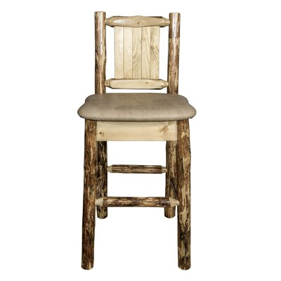 Southborough Rustic Counter Height 24 Bar Stool Upholstery: Tan