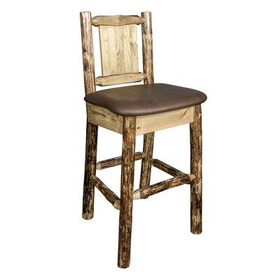 Southborough 24 Full Back Bar Stool Upholstery: Brown