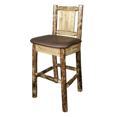 Southborough 24 Foam Upholstery Bar Stool Upholstery: Brown