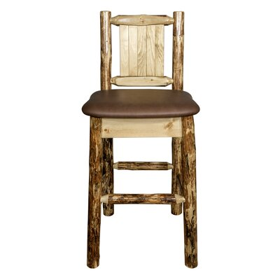 Southborough Rustic Counter Height 24 Bar Stool Upholstery: Brown
