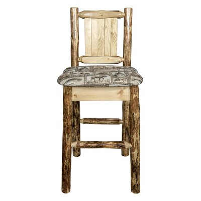 Southborough 24 Solid Wood Square Bar Stool