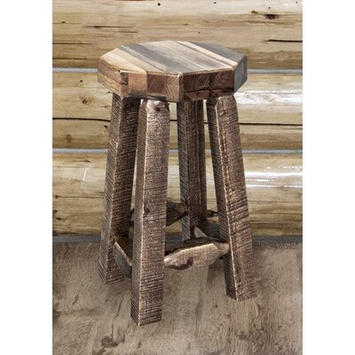 Abella 24 Round Bar Stool Finish: Clear Lacquer
