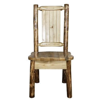 Tustin Rustic Side Chair Upholstery: Wood