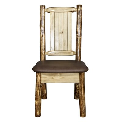 Tustin Wooden Side Chair Upholstery: Saddle