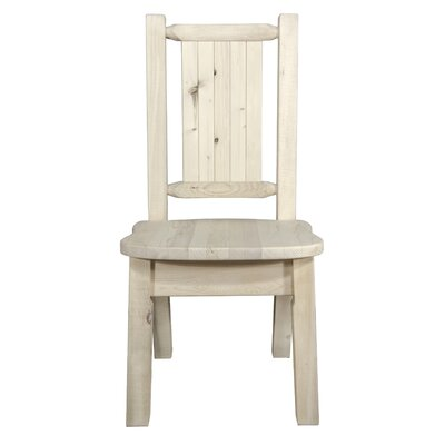 Abella Rustic Solid Wood Dining Chair Color : Clear Lacquer