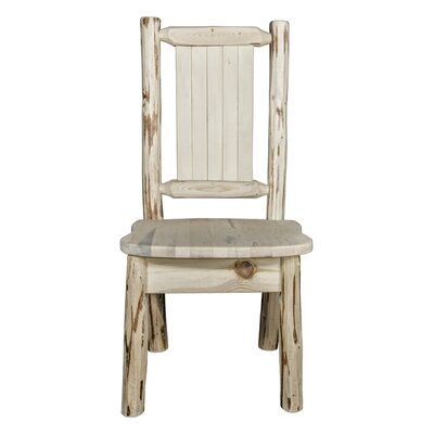 Abordale Rustic Solid Wood Dining Chair Color : Clear Lacquer
