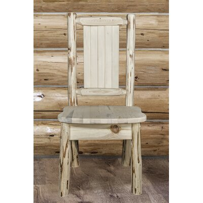 Abordale Rustic Solid Wood Dining Chair Color : Natural