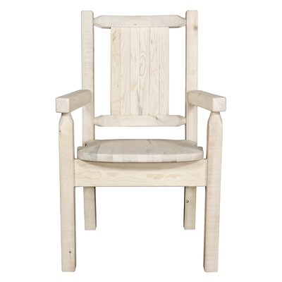 Halden Captains Solid Wood Dining Chair Color: Natural/Clear Lacquer