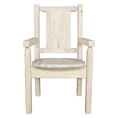 Halden Captain's Solid Wood Dining Chair Color: Natural