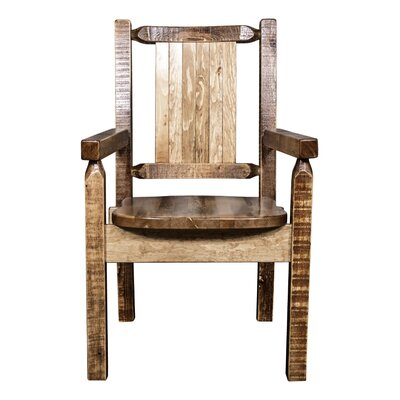 Halden Captain's Solid Wood Dining Chair Color: Brown