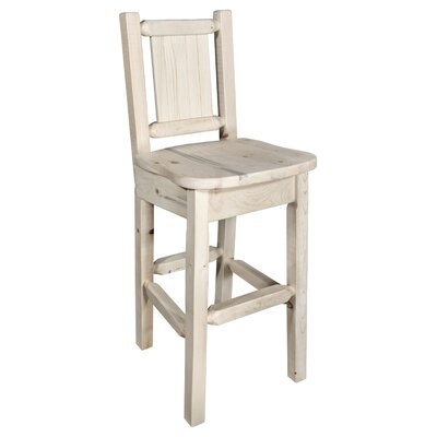 Pearson Handcrafted 24 Bar Stool Color: Natural with Clear Lacquer