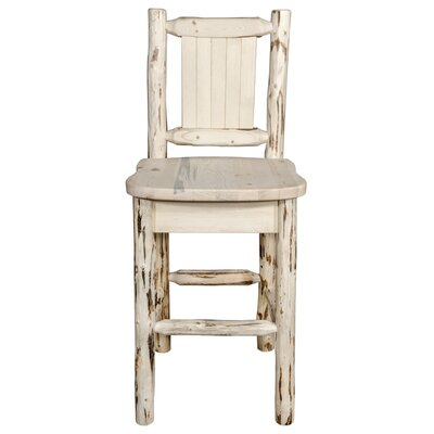 Peabody Slat Back 24 Bar Stool Color: Natural with Clear Lacquer