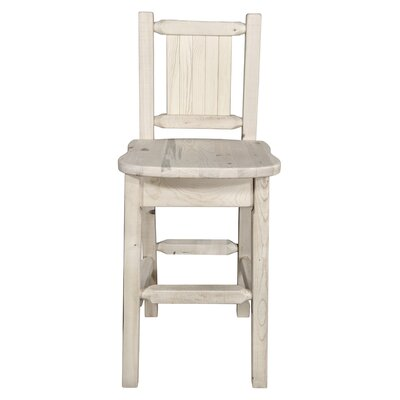Pearson Slat Back 24 Bar Stool Color: Natural with Clear Lacquer