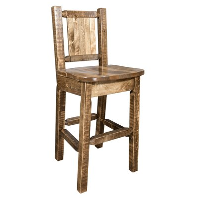 Pearson 24 Bar Stool Color: Brown