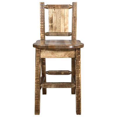 Pearson Slat Back 24 Bar Stool Color: Brown