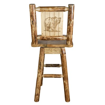 Tustin 24 Wood Swivel Bar Stool