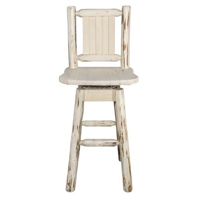 Christie-Dervaux 24 Swivel Bar Stool Color: Natural