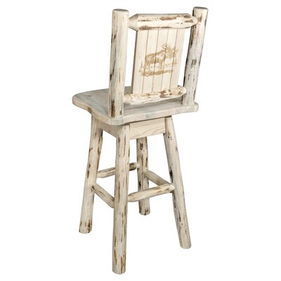 Rochester Rustic 30 Swivel Solid Wood Barstool