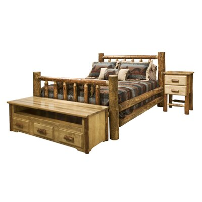 Montana Woodworks Glacier Country Slat Bedroom Collection (2 Pieces) - Size: Queen