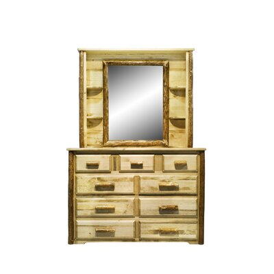 Tustin 9 Drawer Dresser with Mirror