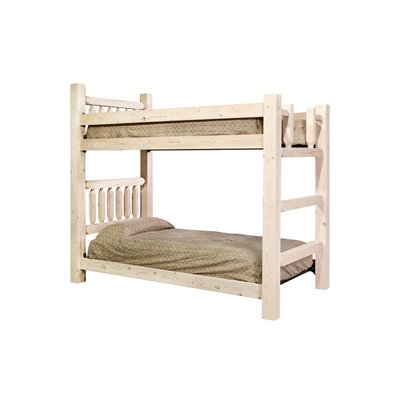 Homestead Twin over Twin Bunk Bed with Built In Ladder Finish Ready to Finish