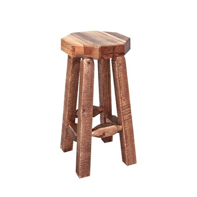 Abella 30 Octagonal Bar Stool Finish: Stained and Lacquered