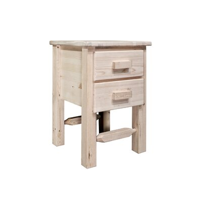 Abella 2 Drawer Nightstand Finish: Ready To Finish