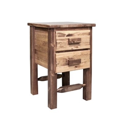 Abella 2 Drawer Nightstand Color: Stained and Lacquered