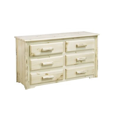 Montana 6 Drawer Dresser Finish: Lacquered