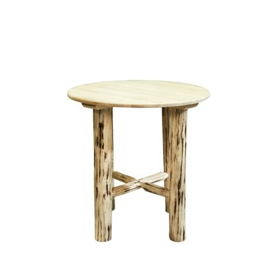 Abordale Round Dining Table Finish: Lacquered, Size: 40 H x 45 W x 45 D