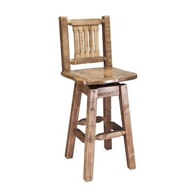 Abella 30 Rustic Swivel Bar Stool Finish: Stained and Lacquered