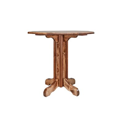 Abella Pub Table Color: Stained and Lacquered, Size: 40 H x 45 W x 45 D