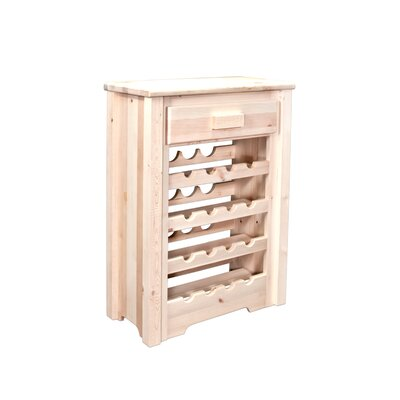Abella 16 Bottle Floor Wine Rack Finish: Lacquered