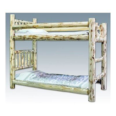 Montana Twin over Twin Bunk Bed with Built In Ladder Finish Ready To Finish