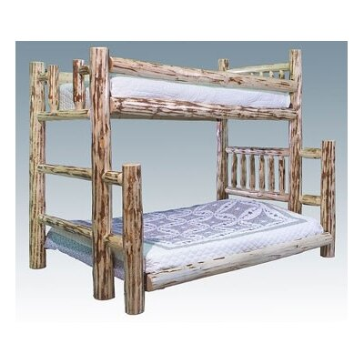 Easy furniture financing Montana Twin over Full Bunk Bed wit...