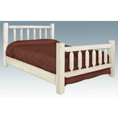 Homestead Panel Bed Finish: Lacquered, Size: California King