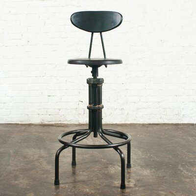 V19C Adjustable Height Bar Stool Finish: Sepele Hardwood