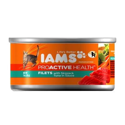 Iams ProActive Health Adult Wet Cat Food with Skipjack Tuna in Sauce (3-oz, case of 24)